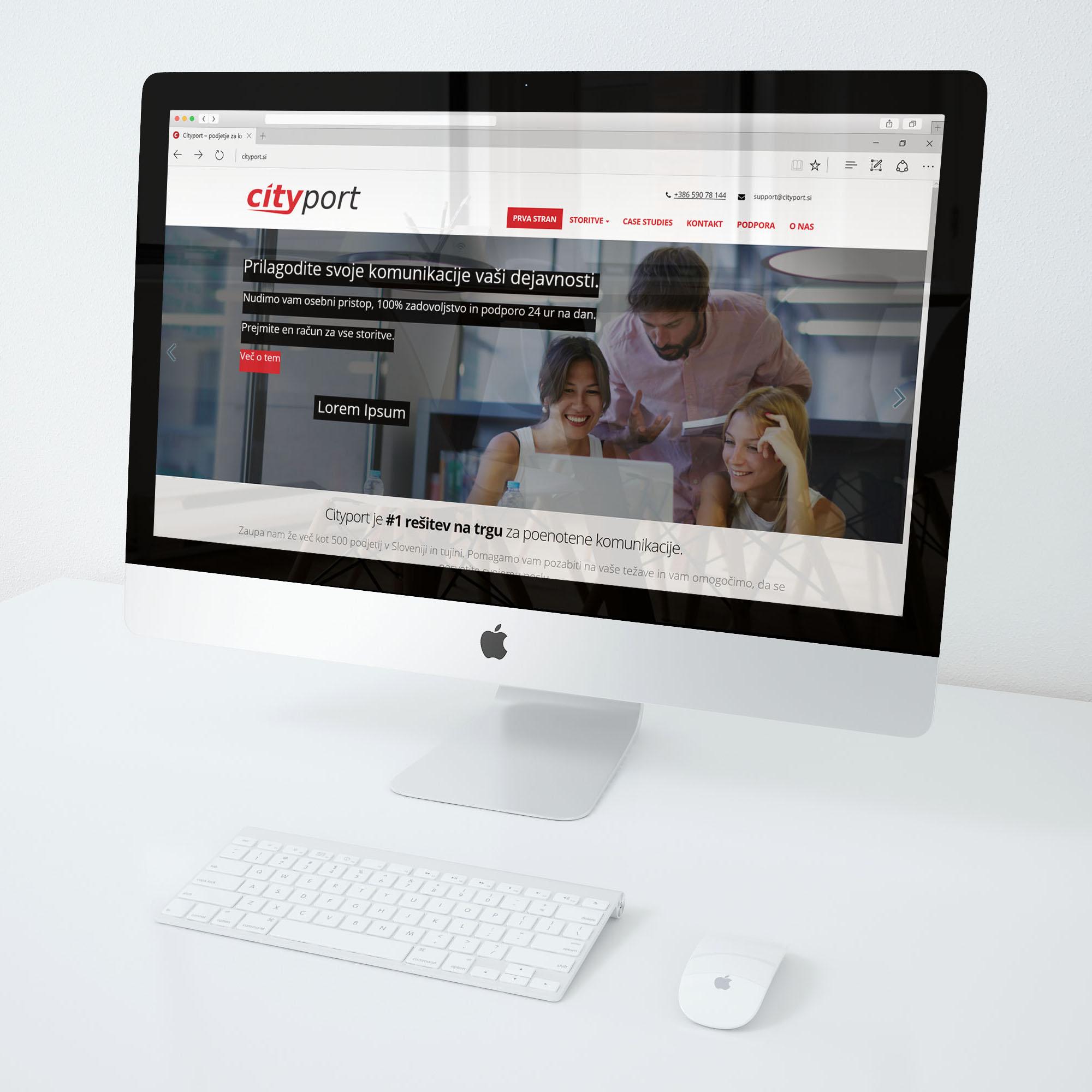 Izdelava spletne strani - cityport.si