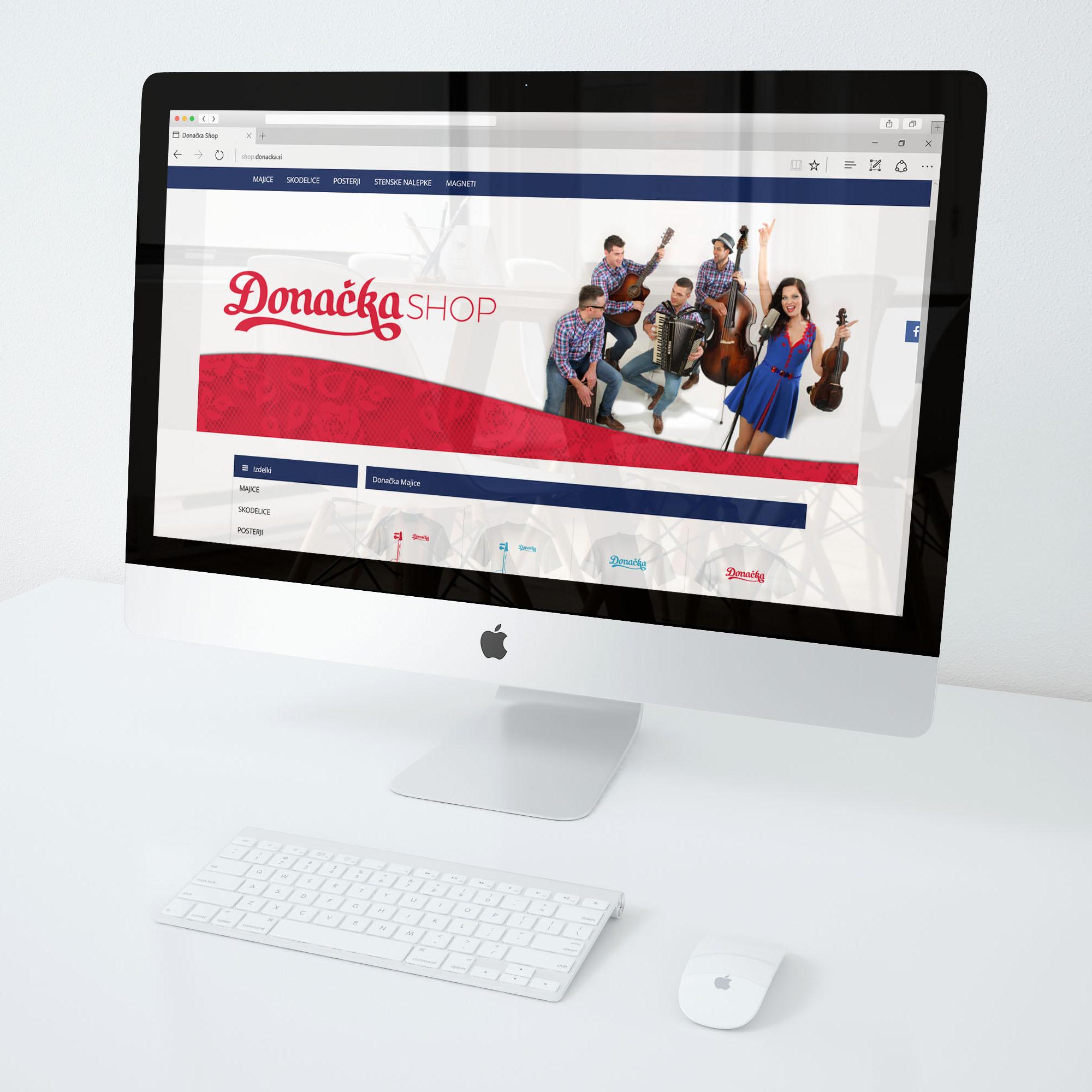 Izdelava spletne trgovine - Donačka