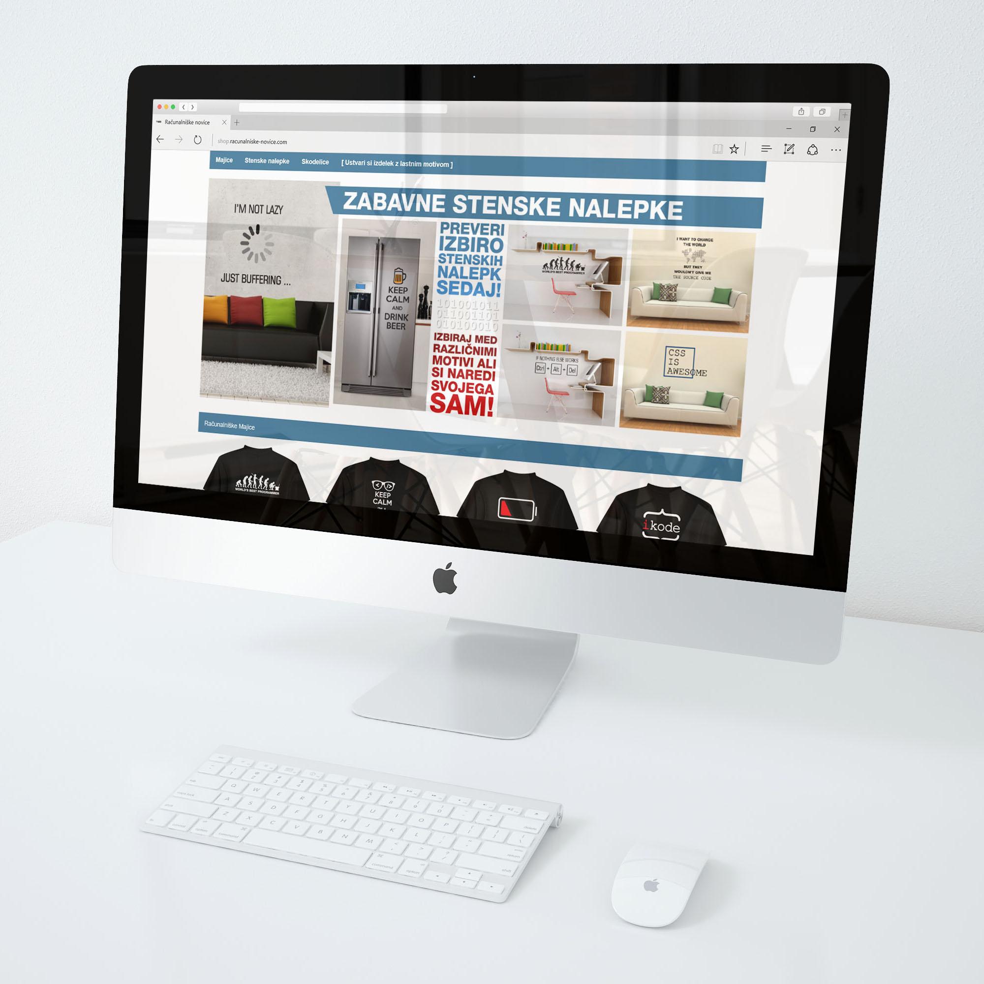 Izdelava spletne trgovine - wall-homedecor.com