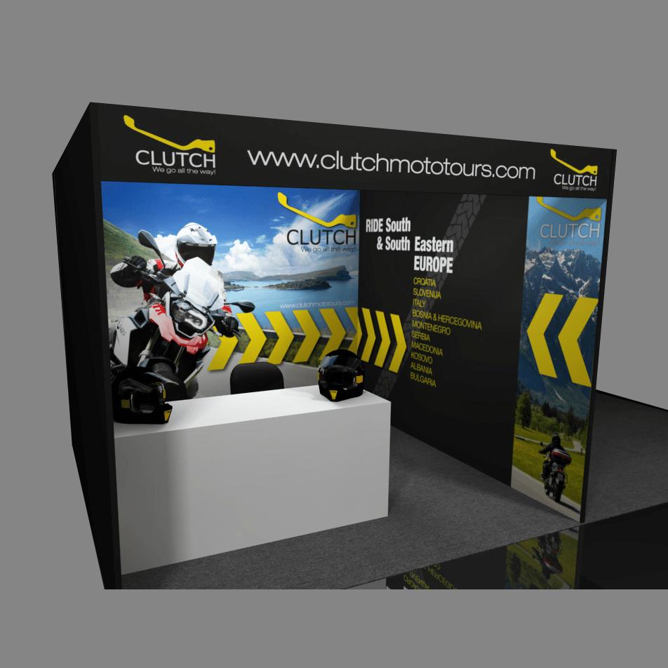 Postavitev sejma - Clutch Moto tours